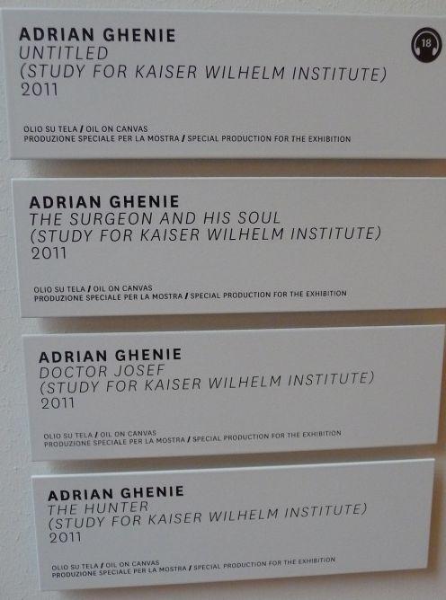 Titluri ale lucrarilor lui Adrian Ghenie