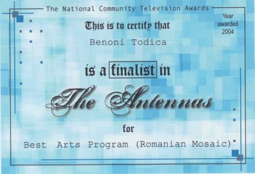 Diploma pentru Mosaic Romanesc