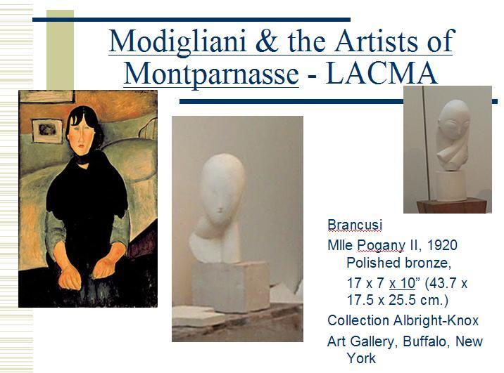 Mlle Pogony la LACMA - expozitie Modigliani